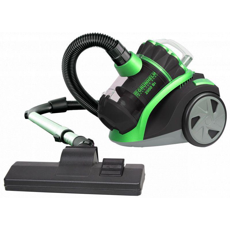 Пылесос Grunhelm GVC-8210-G 2000 Вт черный с зеленым