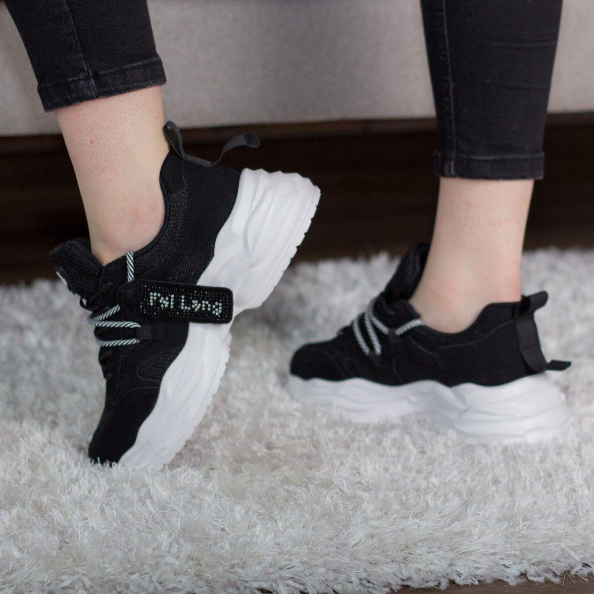 Кросівки жіночі Fashion Abbot 2725 41 розмір 25,5 см Чорні
