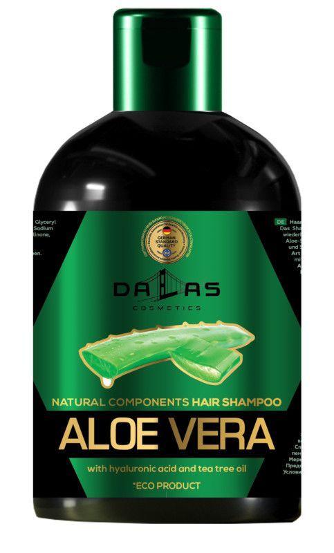 Шампунь для волос Dalas с гиалуроновой кислотой, соком алоэ и маслом ч