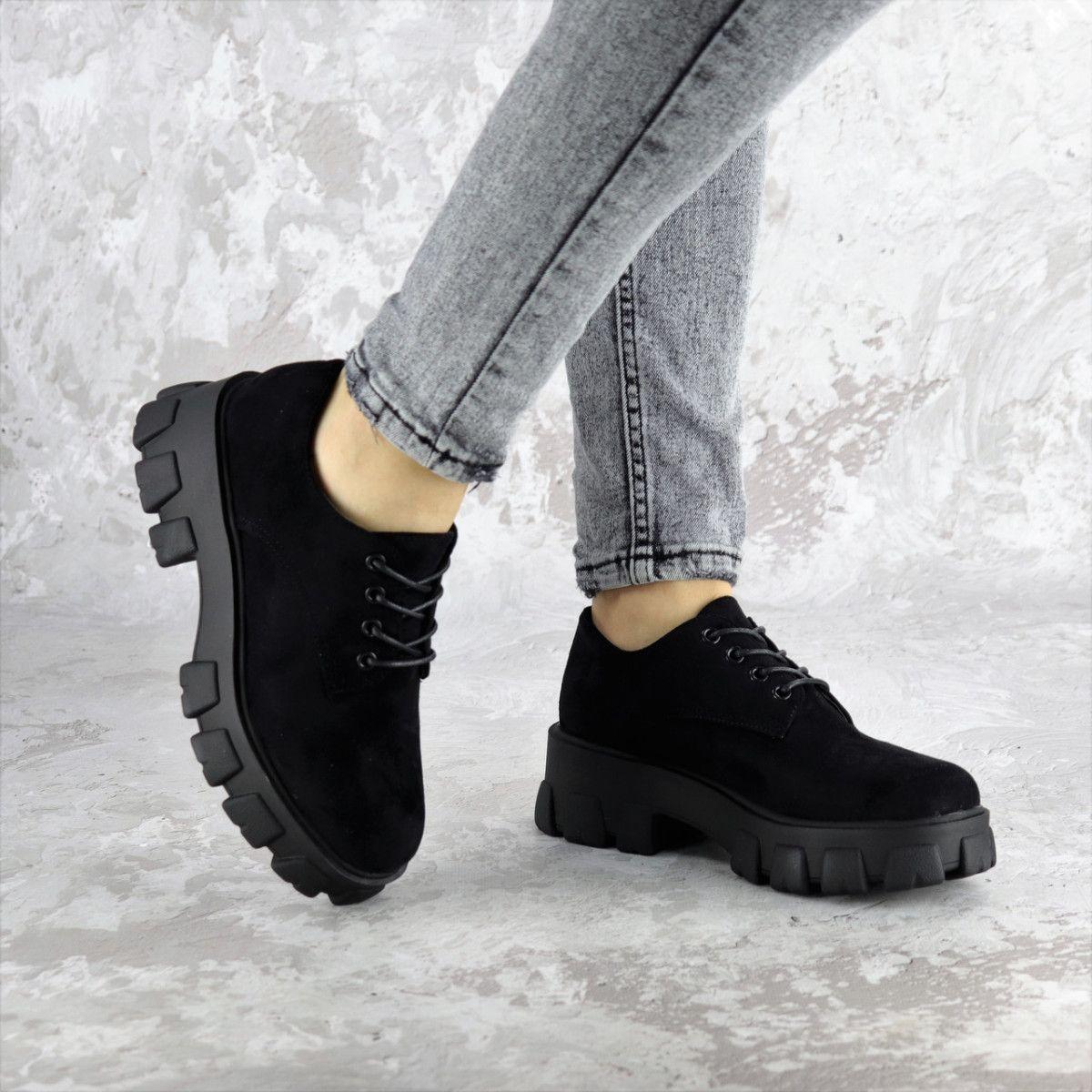 Туфли женские Fashion Chomper 2340 36 размер 23,5 см Черные