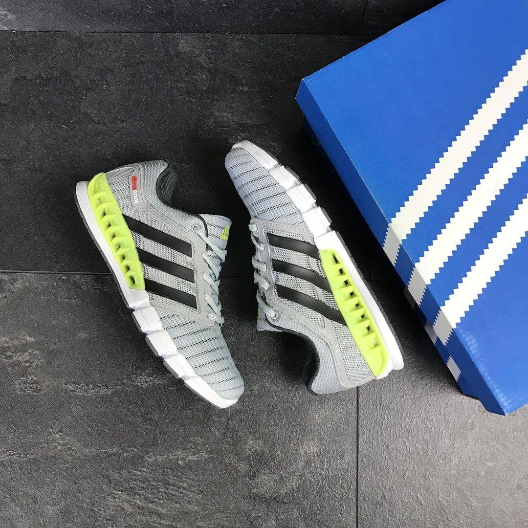 0831bb779f7566 ... Мужские кроссовки светло серые с салатовым Adidas Clima Cool 7775 4 ...