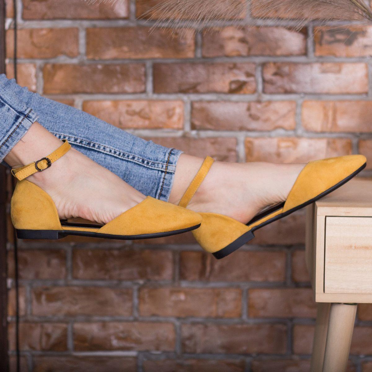 Туфли женские Fashion Euki 2782 41 размер 26 см Желтые