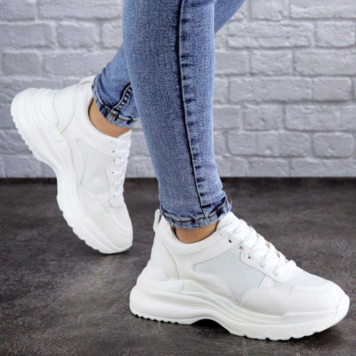 Женские кроссовки Fashion Mishu 2046 36 размер 23 см Белый