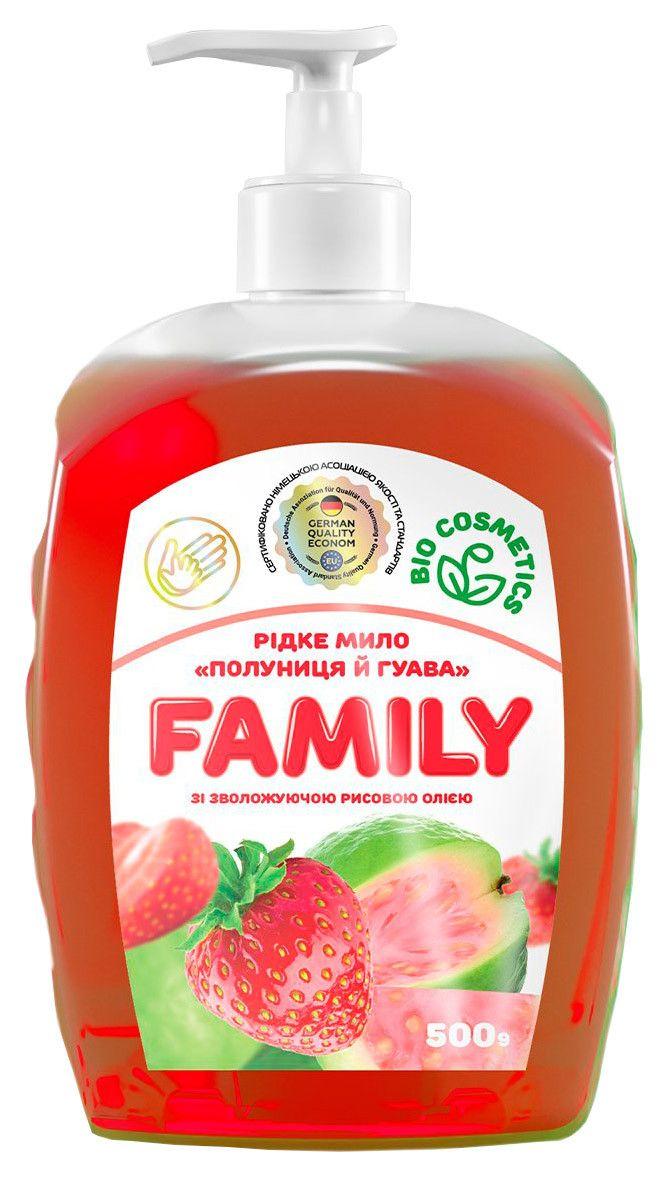 Жидкое мыло Клубника и гуава с увлажняющим рисовым маслом 722539 500 м