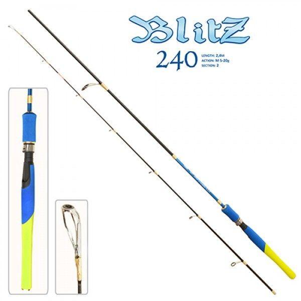 Спиннинг Stenson Blitz FF-23624 2,4 м 5-20 г