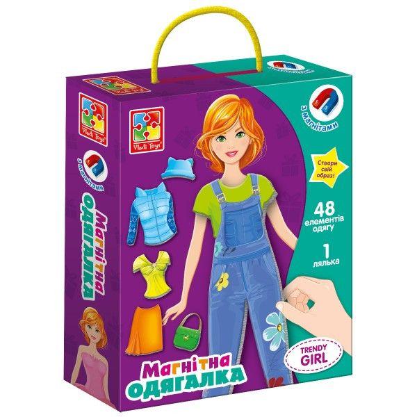Игра липучки Vladi Toys Одевалка Trendy girl VT3702-22
