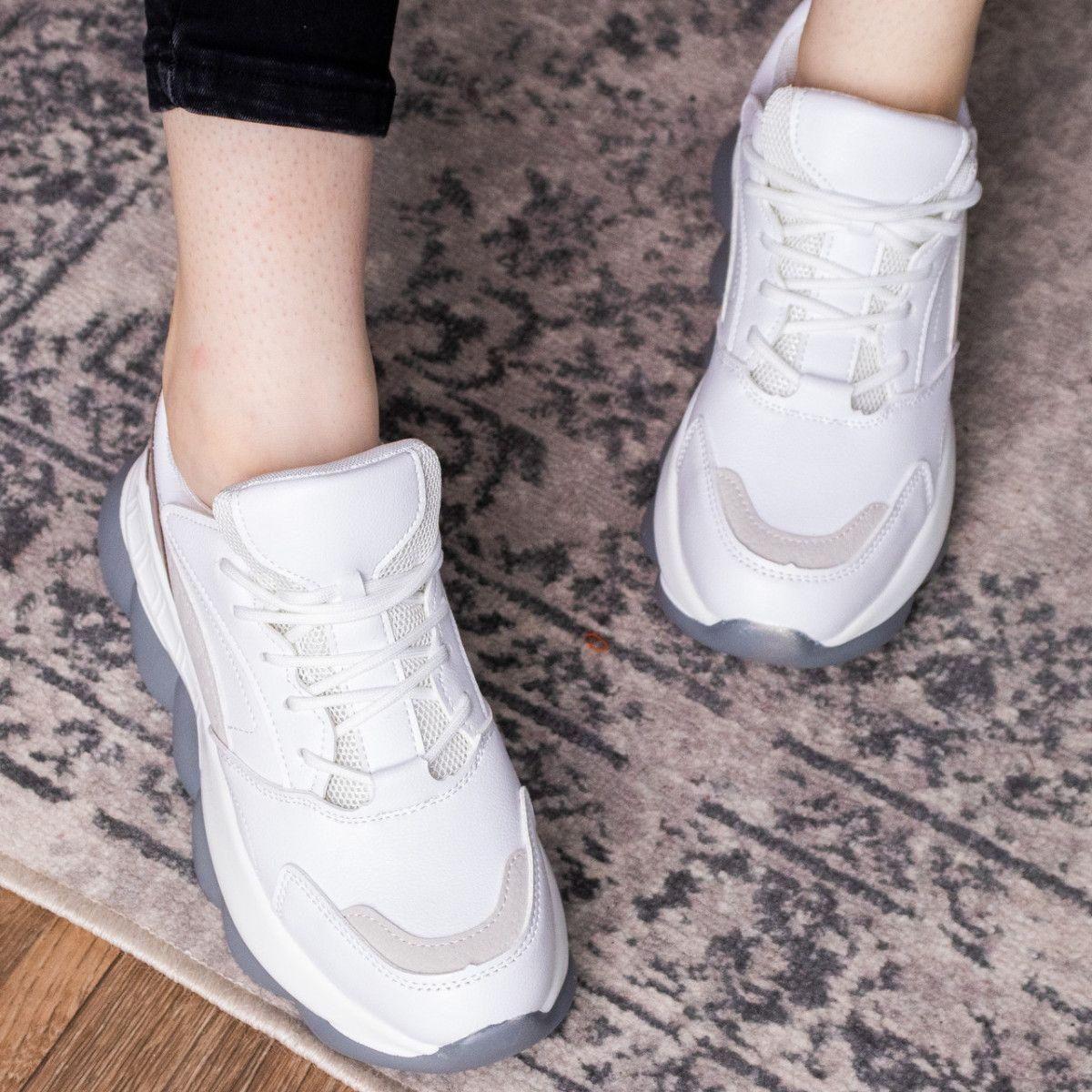 Женские кроссовки Fashion Bubbles 1642 39 размер 24 см Белые
