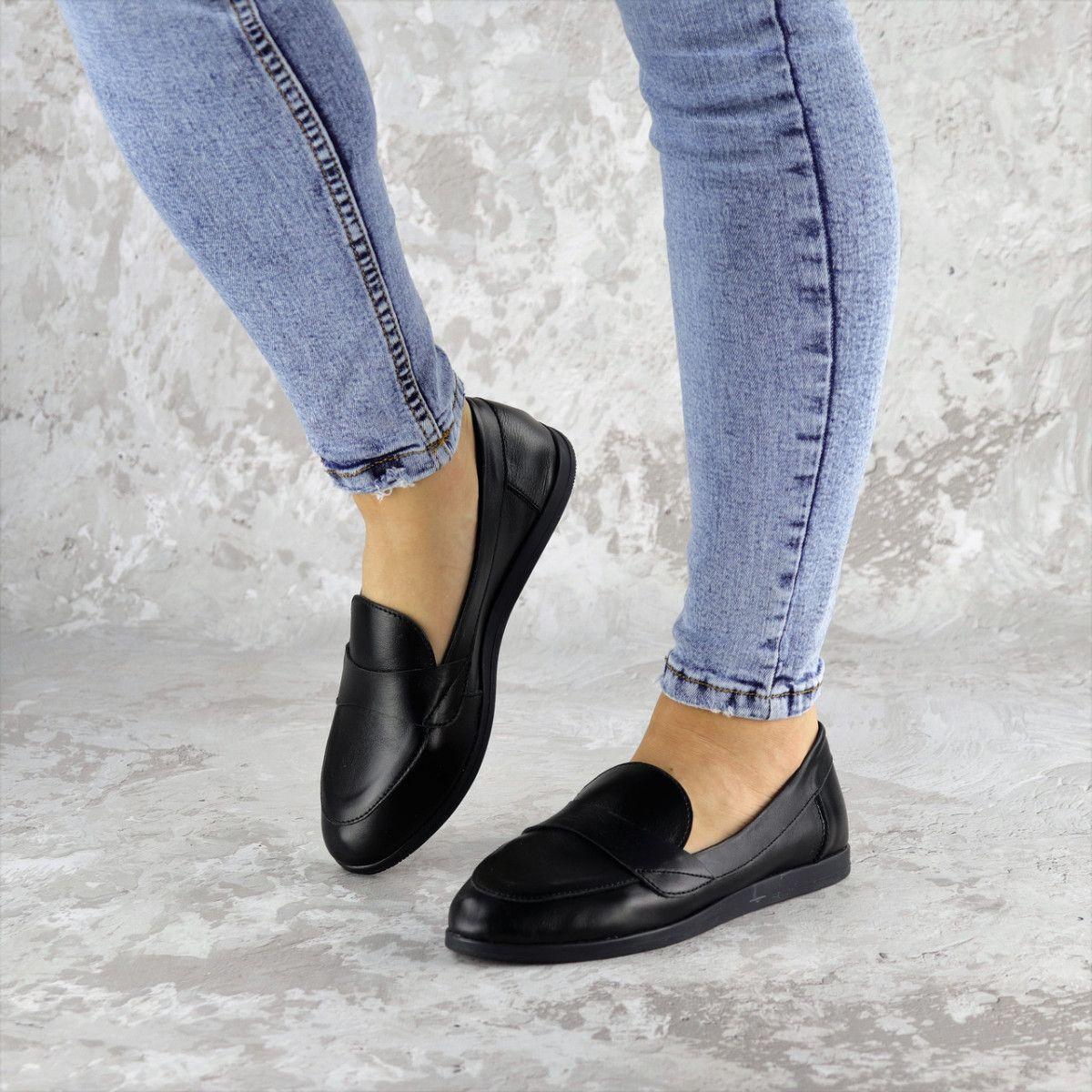Мокасины женские Fashion Herman 2239 37 размер 24 см Черный