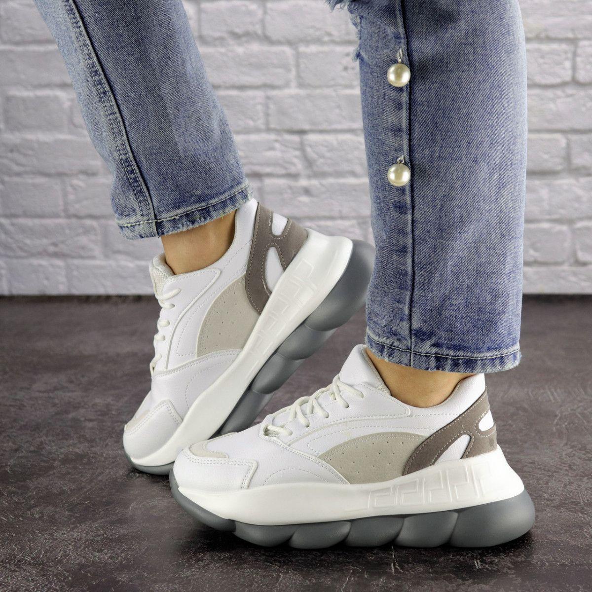 Жіночі кросівки Fashion Bubbles 1642 39 розмір 24 см Білий