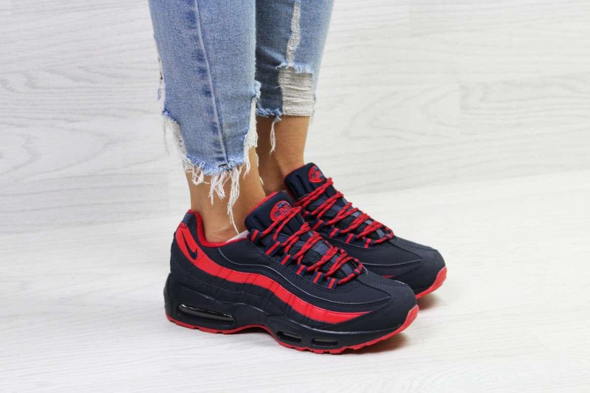 e2e009db Купить сейчас - Женские кроссовки на зиму темно синие с красным Nike ...