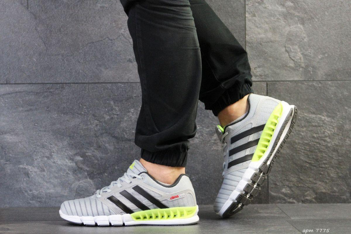 cd4d35aca5a344 ... Мужские кроссовки светло серые с салатовым Adidas Clima Cool 7775 3 ...