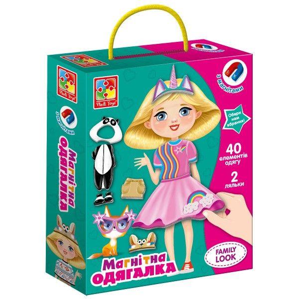 Игра липучки Vladi Toys Одевалка Family look VT3702-21