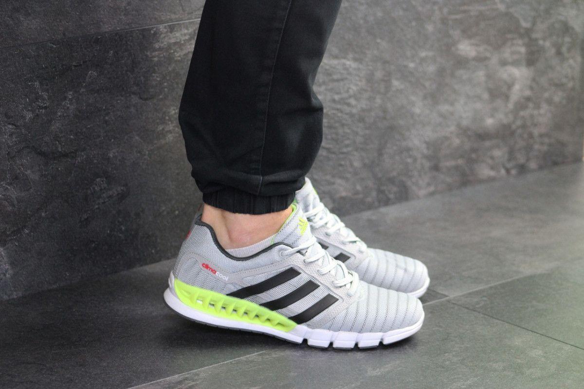 d0b63f6aa1e072 Купить сейчас - Мужские кроссовки светло серые с салатовым Adidas ...