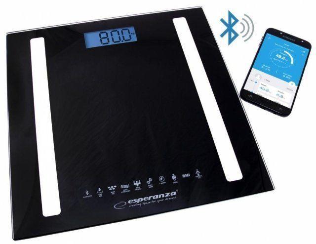 Весы бытовые черные B.Fit 8в1 Esperanza EBS-016K