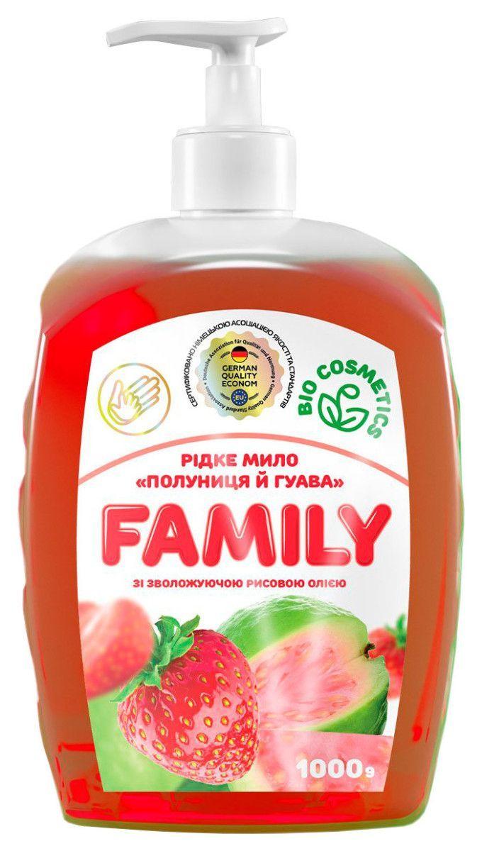 Жидкое мыло Клубника и гуава с увлажняющим рисовым маслом 722522 1 л