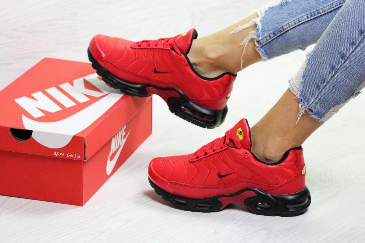 7beb96f9 Купить сейчас - Женские зимние кроссовки красные Nike Air Max Tn ...