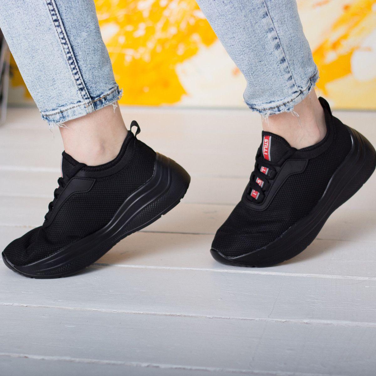 Кроссовки женские Fashion Qantas 2608 36 размер 23,5 см Черные