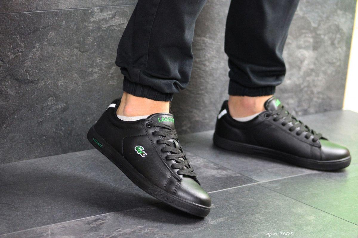71384016 Мужские кеды черные Lacoste 7605: 895 грн. - Спортивная обувь ...