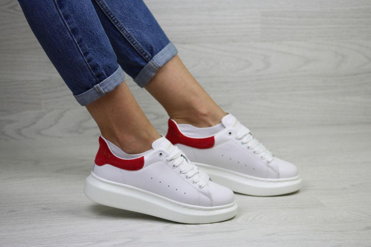 cf5a91074df6c8 Купить сейчас - Женские кроссовки белые с красным Alexander McQueen ...