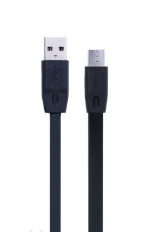 Кабель Remax Full Speed Micro USB flat 1M Black