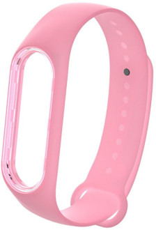 Ремешок UWatch Luminous Silicone Band For Mi Band 3/4 Bright Pink #I/S