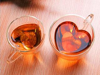 кружка стеклянная с двойным дном фото