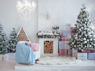 украшенная елка на новый год фото