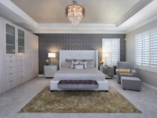 красивая люстра в спальне фото