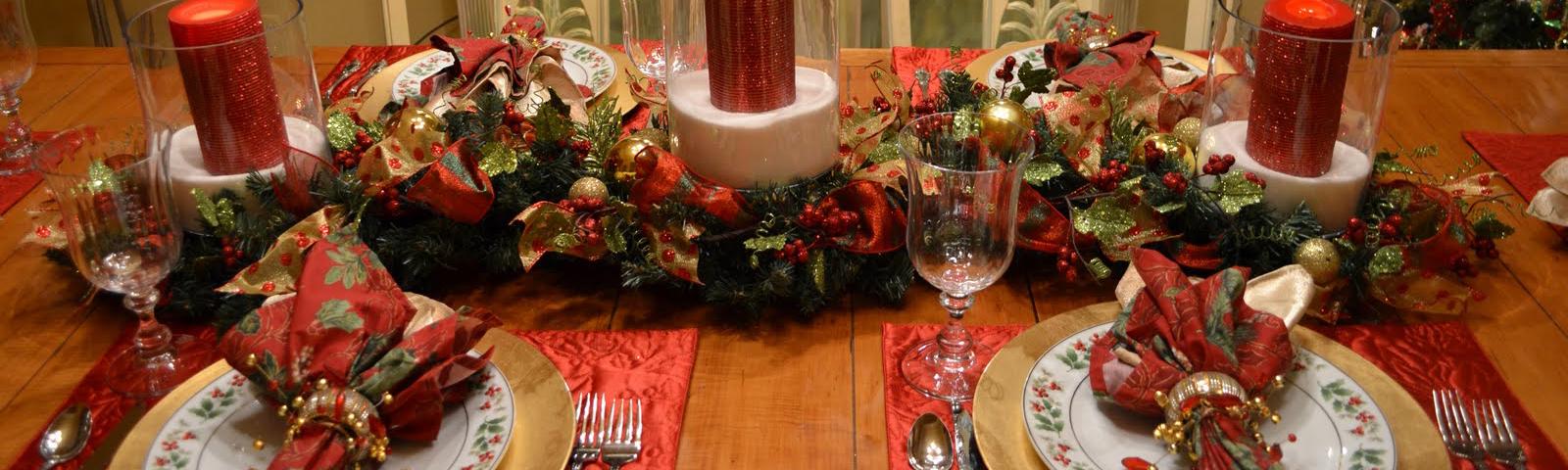 украшения стола на рождество фото