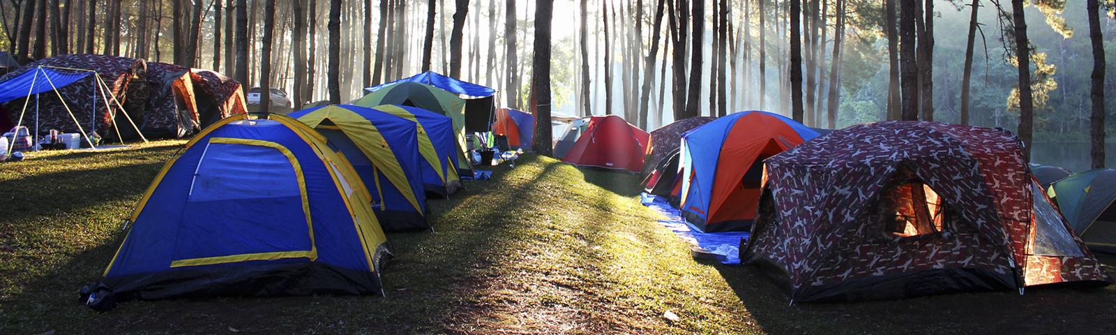 палаточный городок фото