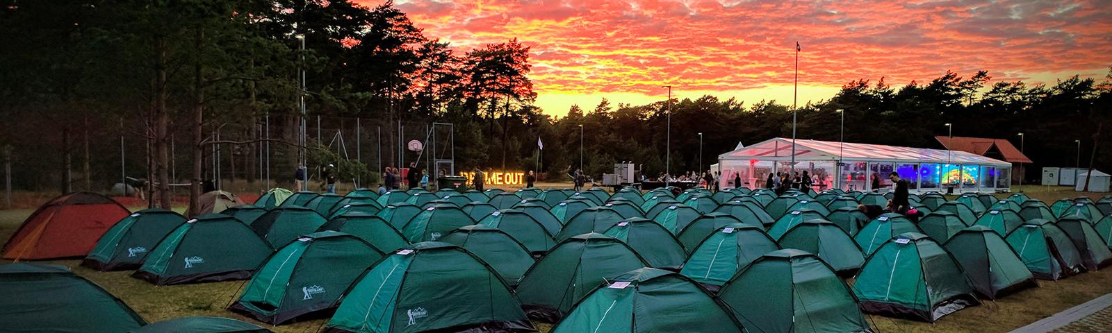 городок палаток фото