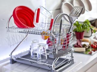 сушка посуды двухярусная фото