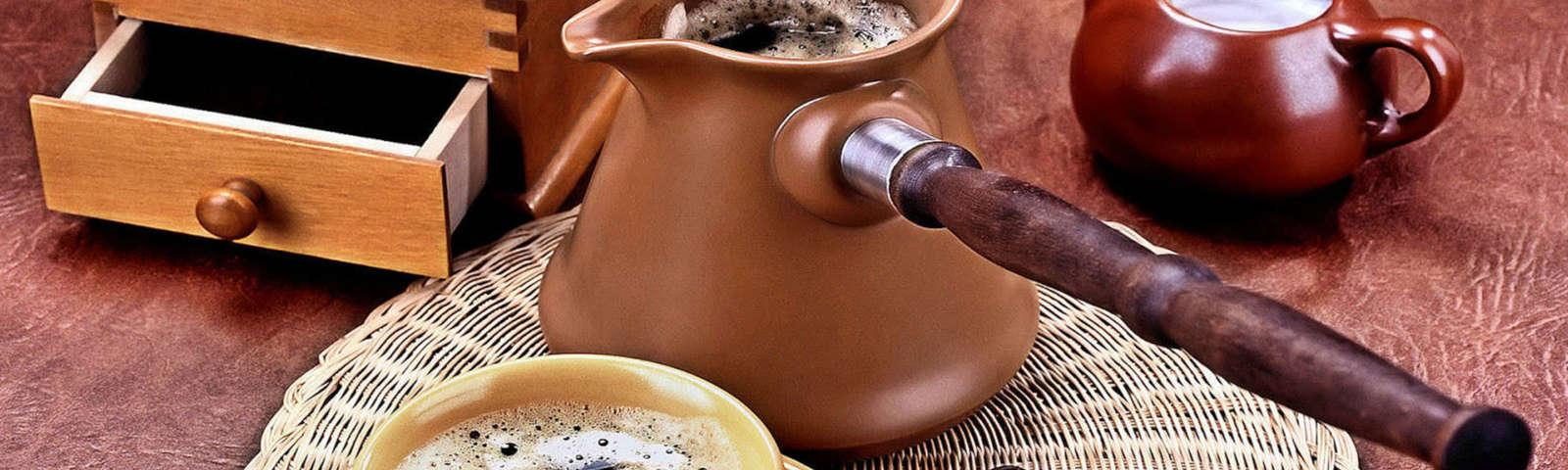 турка для кофе с ручкой фото