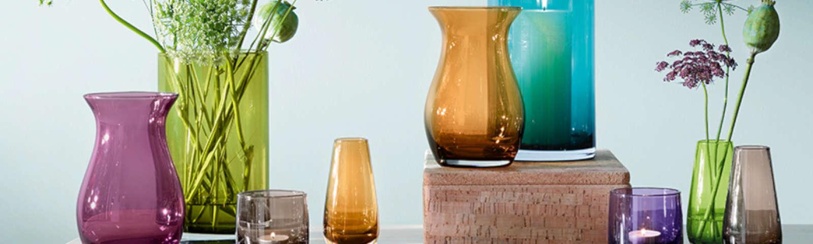 вазы напольный стеклянные