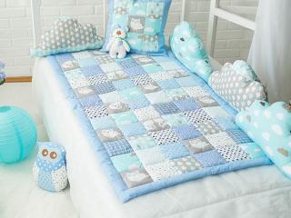 детское одеяло голубое фото