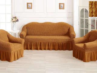 чехол на диван и два кресла фото