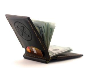 кожаный зажим для денег фото