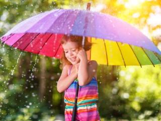 яркий зонтик детский фото